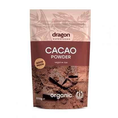 Cacao Pudra Raw Bio Dragon Superfoods 200 g