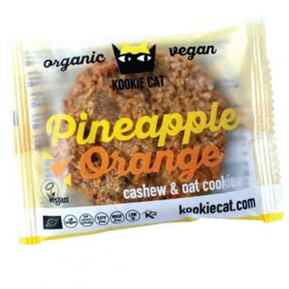 Bio Cookie cu Ananas si Portocale Fara Gluten Kookie Cat 50 g