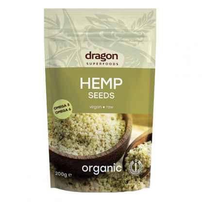 Seminte de Canepa Decorticate Bio Raw Dragon Superfoods 200 g