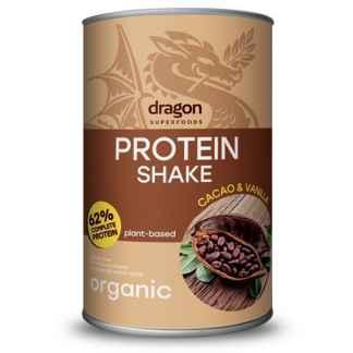 Shake Proteic Cacao si Vanilie Bio Dragon Superfoods 500 g