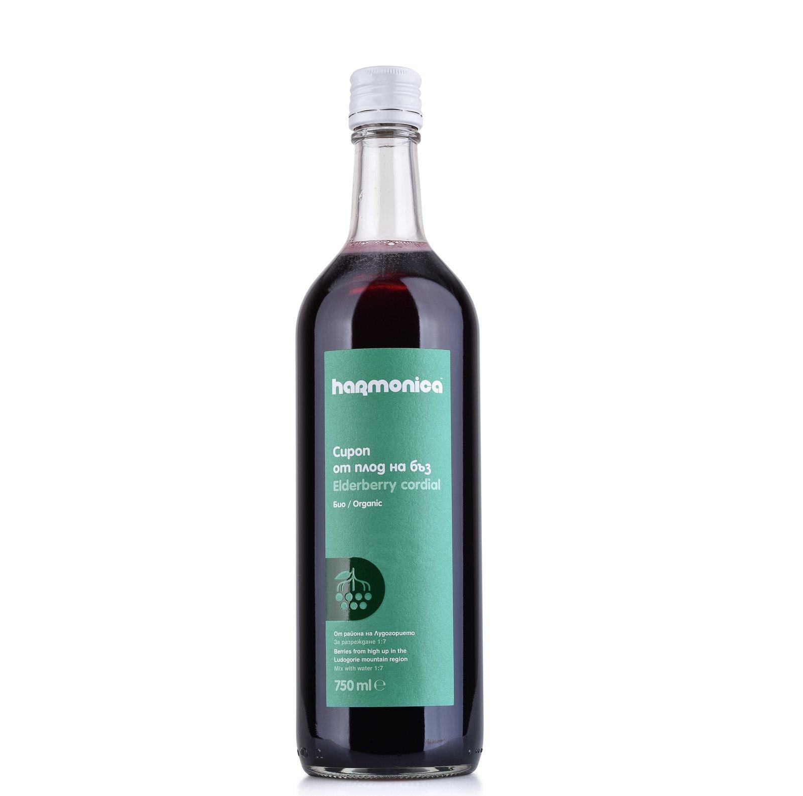 Bio Sirop Din Fructe De Soc Harmonica 750 Ml Nourish Biomarket