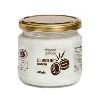 Bio Ulei de Cocos Extra Virgin Presat la Rece Raw 300 ml Dragon SuperFoods