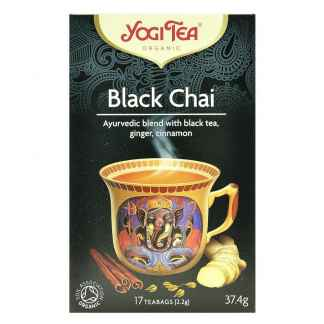 Ceai Ayurvedic cu Ceai Negru, Ghimbir si Scortisoara Bio Yogi Tea 37,4 g