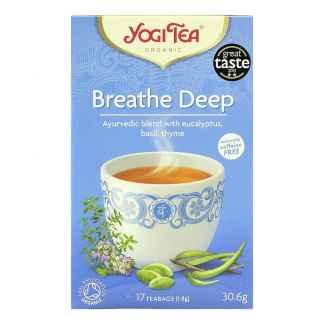 Bio Yogi Tea Breathe Deep Ceai ayurvedic Respiratie Profunda cu Eucalipt, Busuioc si Cimbru 30,6 g