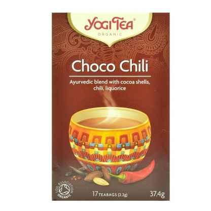 Bio Ceai ayurvedic cu Cacao si Chili Choco Chili Yogi Tea 37,4 g