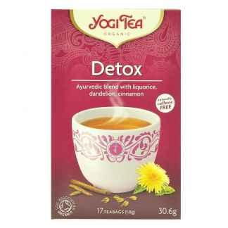 Bio Yogi Tea Detox Ceai ayurvedic Detoxifiant cu Lemn Dulce, Papadie si Scortisoara 30,6 g