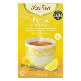 supliment de ceai din plante de detoxifiere yogi