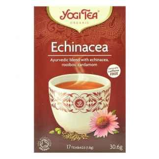 Bio Yogi Tea Echinacea Ceai ayurvedic cu Echinacea, Roiboos si Cardamon 30,6 g