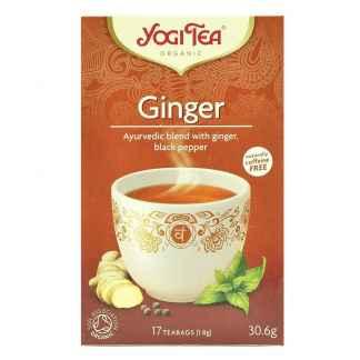 Bio Yogi Tea Ginger Ceai ayurvedic cu Ghimbir si Piper Negru 30,6 g