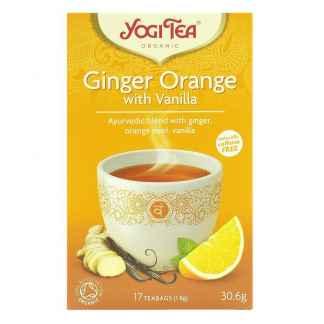 Bio Ceai ayurvedic cu Ghimbir, Portocale si Vanilie Ginger Orange Yogi Tea 30,6 g