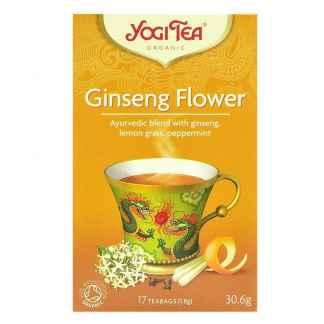 Bio Yogi Tea Ginseng Flower Ceai ayurvedic cu Flori de Ginseng, Lemon Gras si Menta 30,6 g