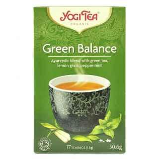 Bio Yogi Tea Green Balance Ceai ayurvedic cu Ceai Verde, Lemongrass si Menta 30,6 g