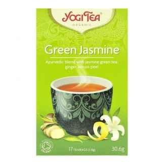 Bio Yogi Tea Green Jasmine Ceai cu Iasomie, Ceai Verde, Ghimbir si Coaja de Portocala 30,6 g