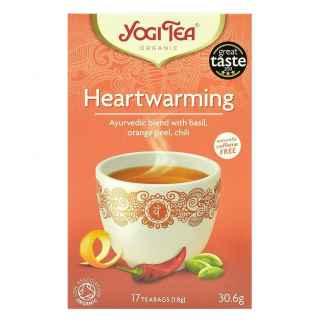Bio Yogi Tea Heartwarming Ceai cu Busuioc, Portocala, Chili 30,6 g