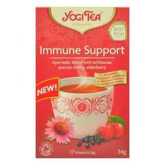 Ceai Ayurvedic pentru Sistemul Imunitar cu Echinacea, Acerola si Macese Bio Yogi Tea 34 g