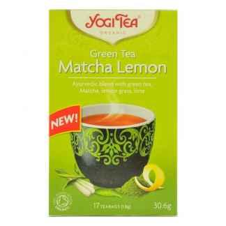 Ceai Verde cu Matcha, Lemongrass si Lime Bio Matcha Lemon Yogi Tea 30,6 g
