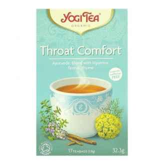 Bio Yogi Tea Throat Comfort Ceai ayurvedic Respiratie Linistita cu Lemn Dulce, Fenicul si Cimbru 32,3 g