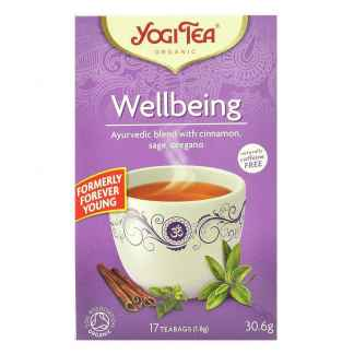 Bio Yogi Tea Wellbeing Ceai ayurvedic Bunastare cu Scortisoara, Salvie si Oregano 30,6 g