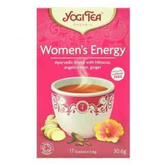 Ceai ayurvedic Energizant cu Hibiscus, Radacina de Angelica si Ghimbir Woman's Energy Bio Yogi Tea 30,6 g