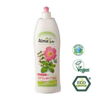 Detergent Eco de Vase cu Trandafir Salbatic si Roinita AlmaWin 1 L