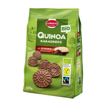 Biscuiti Bio cu Cacao si Quinoa Wikana 125 g