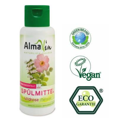 Detergent Lichid Vase Eco Trandafir Salbatic si Roinita AlmaWin 100 ml