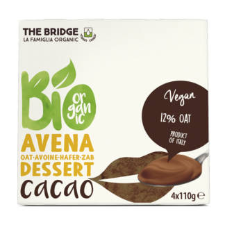 Bio Budinca de Ovaz cu Cacao The Bridge 4 x 110 g