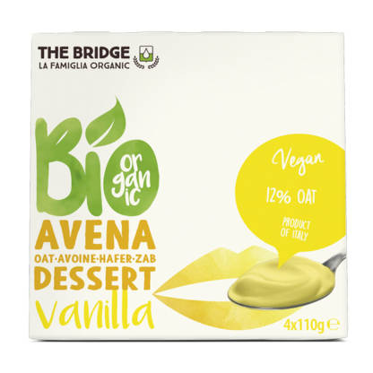 Bio Budinca de Ovaz cu Vanilie The Bridge 4 x 110 g