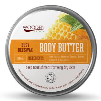 Bio Unt Pentru Corp cu Ceara de Albine Busy Beewax Wooden Spoon 100 ml