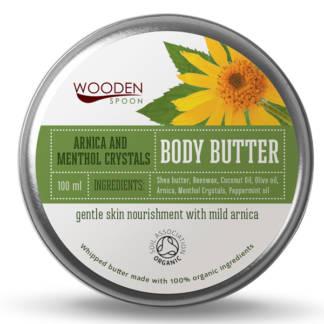 Bio Unt Pentru Corp cu Menta si Arnica Menthol Crystals Wooden Spoon 100 ml