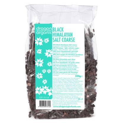 Sare de Himalaya Neagra Grunjoasa Dragon Organic 250 g