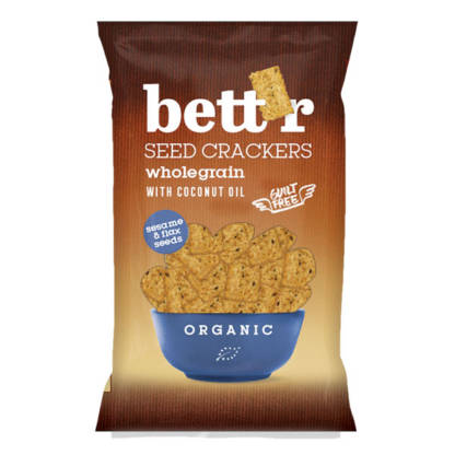 Bio Crackers Integrali cu Ulei de Cocos Bettr 150 g