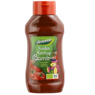 Bio Ketchup de Copii Indulcit cu Nectar de Agave Dennree 500 ml