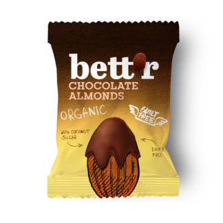 Bio Migdale Invelite in Ciocolata Bettr 40 g