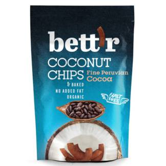 Bio Chips de Cocos cu Cacao Fine Peruvian Cocoa 70 g