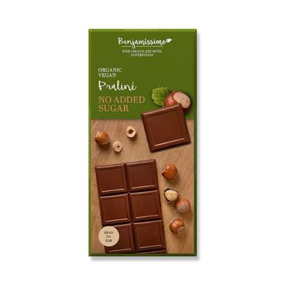 Ciocolata Bio cu Praline Vegan Fara Zahar Fara Gluten Benjamissimo 70 g