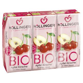 Bio Suc de Mere si Visine Hollinger 3 buc x 200 ml