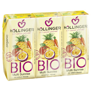 Bio Suc Multifruct Sunrise Hollinger 3 buc x 200 ml