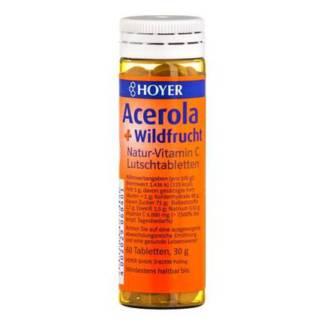 Tablete Masticabile cu Vitamina C cu Acerola si Fructe de Padure Hoyer 60 buc 30 g