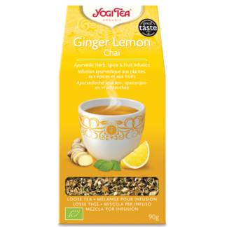 Bio Yogi Tea Ginger Lemon, Ceai Ayurvedic cu Ghimbir si Lamaie 90 g