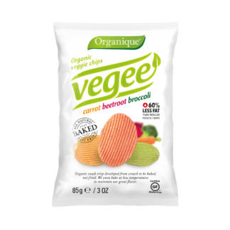 Bio Chips Vegee din Cartofi cu Morcov Sfecla si Broccoli Fara Gluten Organique 85 g