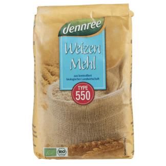 Bio Faina de Grau Alba Tip 550 Dennree 1 kg