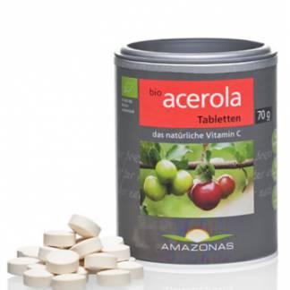 Bio Pastile cu Acerola Amazonas 120 tablete 70 g