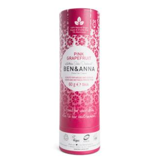 Deodorant Stick GrapeFruit Tub Carton Pink Grapefruit Ben & Anna 60 g