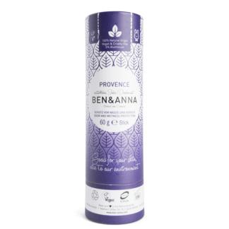 Deodorant Natural Stick Vegan Tub Carton Provence Ben & Anna 60 g