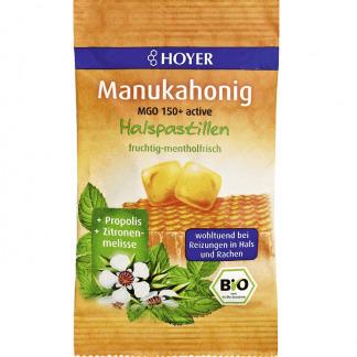 Bio Bomboane cu Miere de Manuka MGO 150+ Fara Gluten Hoyer 30 g