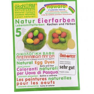 Vopsea de Oua Naturala 5 culori Nawaro