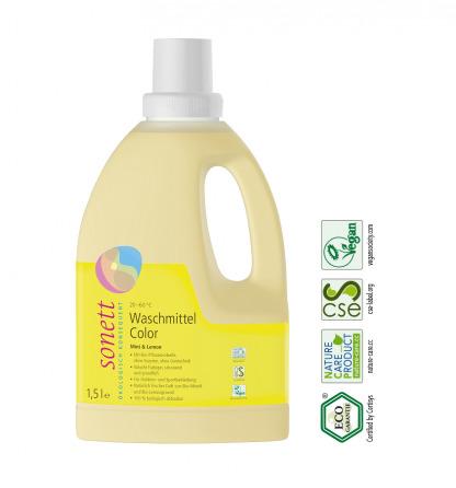 Detergent Lichid Eco Pentru Rufe Colorate Sonett 1,5 l