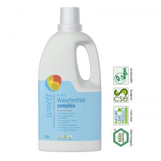 Eco Detergent Pentru Rufe Albe si Colorate Sensitiv Sonett 2 l