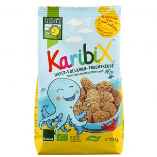 Bio Biscuiti Karibix din Faina Integrala de Ovaz si Fructe Bohlsener Muhle 150 g